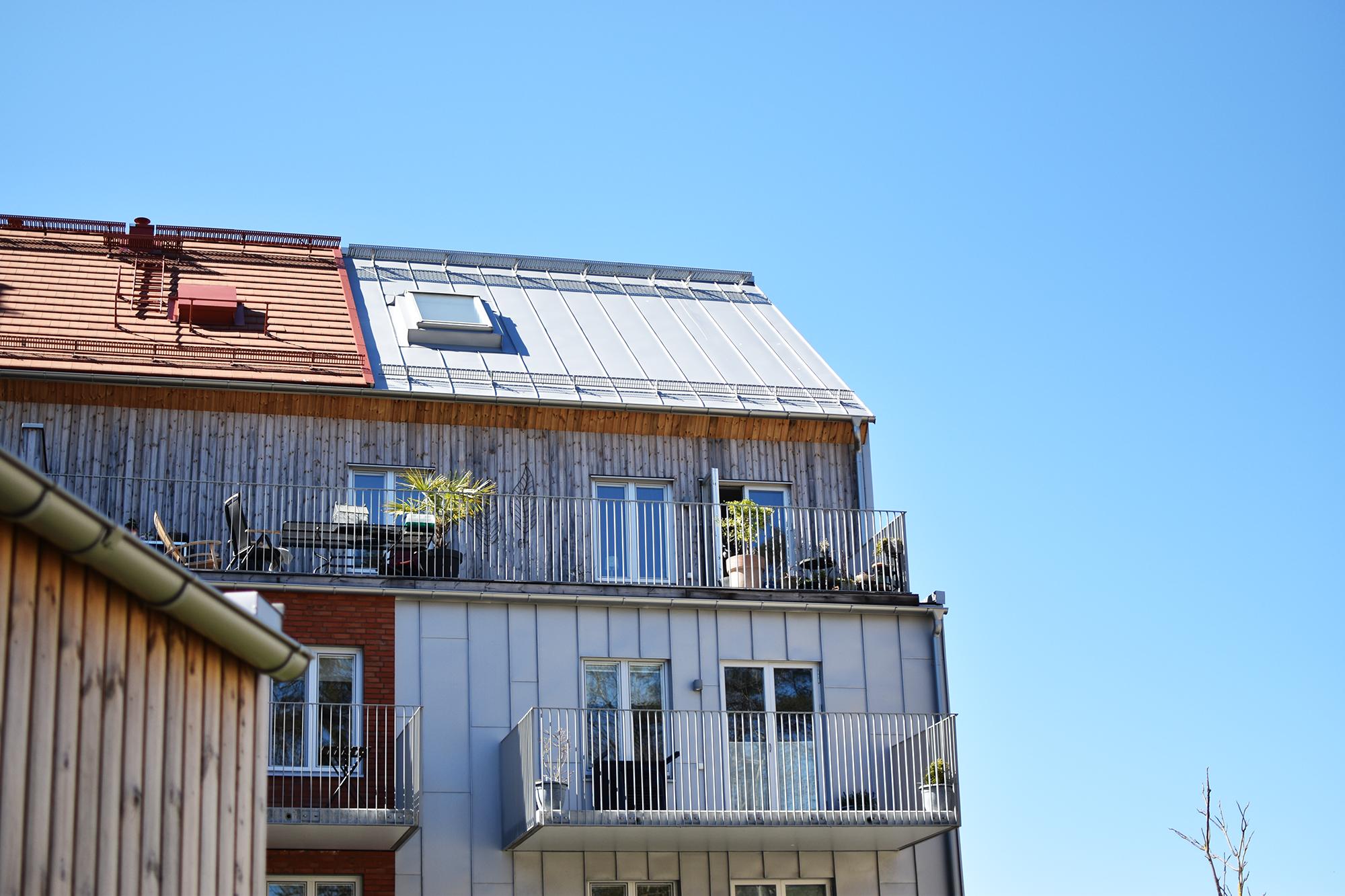 En bild på Skanska Brf Fritiden som är bostäder i Nya Hovås, söder om Göteborg city vid havet. Bostadsrätter.